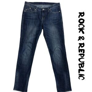 Rock and Republic Straight Leg Jeans Size 10